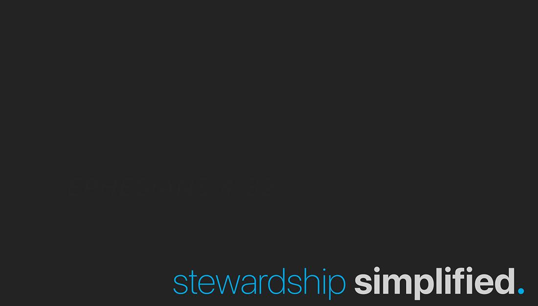 Image: Stewardship Simplified Sermon Series